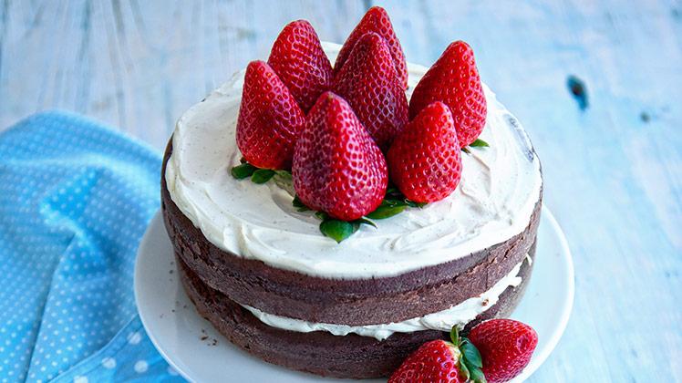chocolade_taart_aardbeien