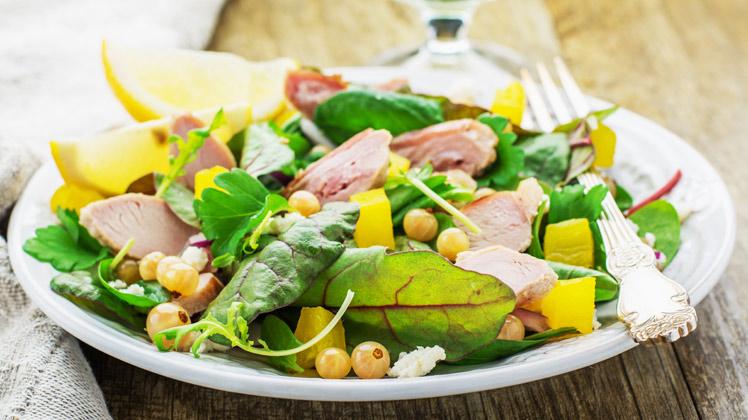 zomerse salade met snijbiet