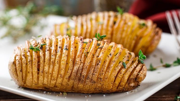 gepofte aardappel