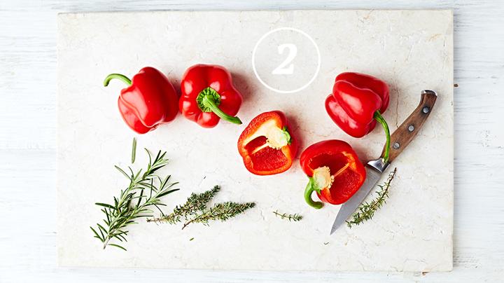 pepers en paprika's