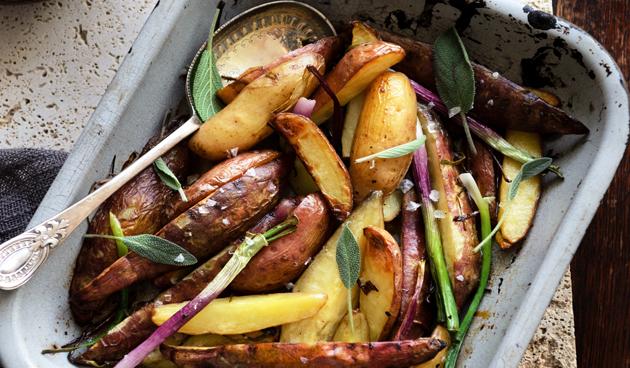Geroosterde aardappelen met salie