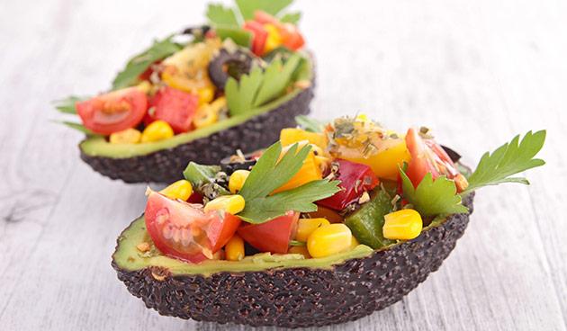 Recept avocado gevuld met salade